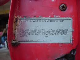Image Of 1962 Chevy Truck Vin Number Location 1959 Chevrolet Apache ...