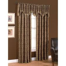 Light Filtering Privacy Curtains by Shop Style Selections Raja 84 In Mocha Polyester Rod Pocket Light