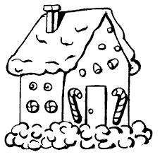 dessin a imprimer coloriage maison en sucre à imprimer