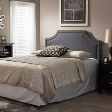 Leggett And Platt Upholstered Headboards by Baxton Studio Avignon Modern And Contemporary Dark Grey Fabric