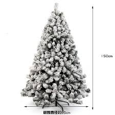 White Christmas Tree Clearance New 1 5m 150cm Sticky Snow Flocking Hanging