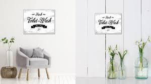100 Fresh Home Decor Toilet Wash Vintage Sign Wall Art Gift Ideas