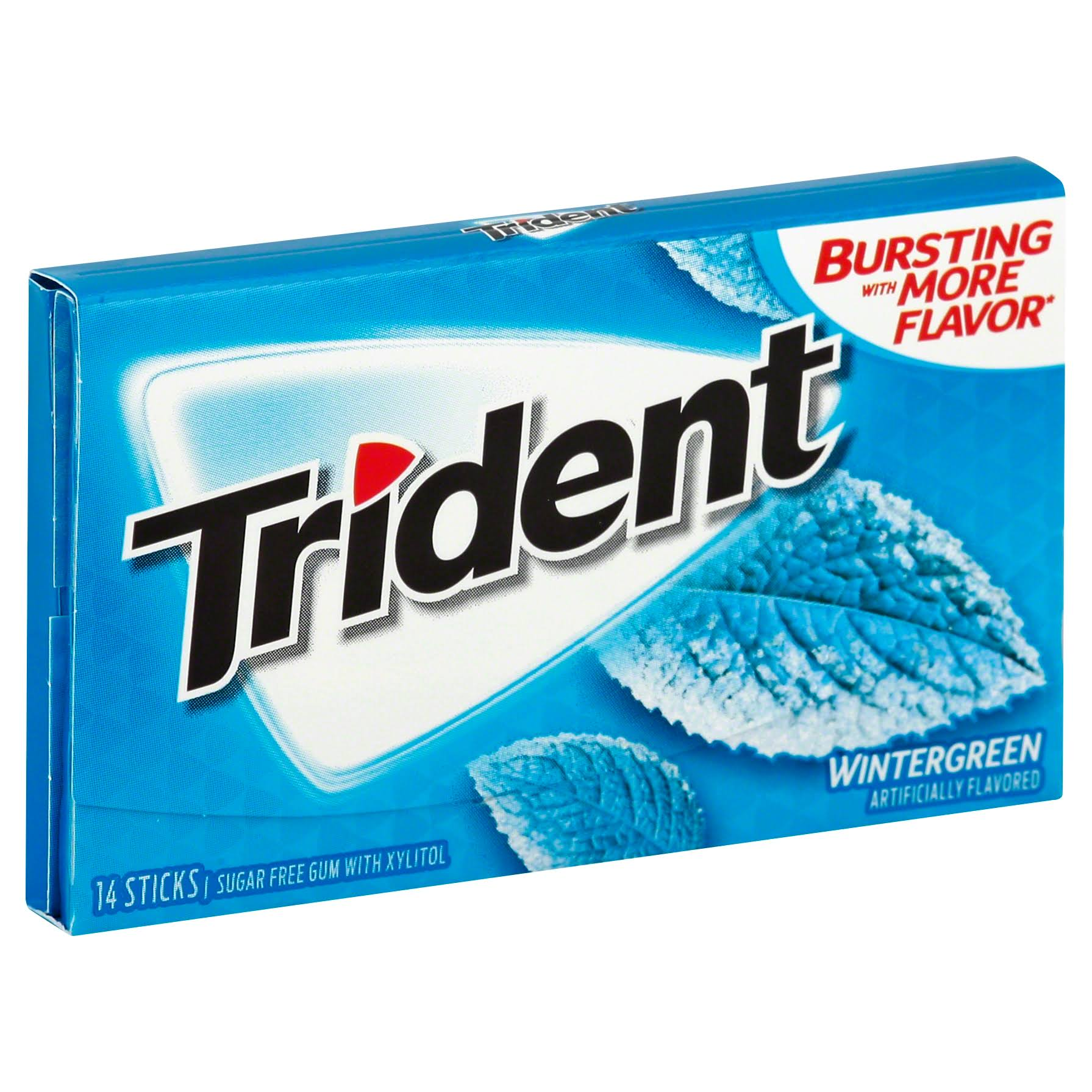 Trident Gum, Sugar Free, Wintergreen - 14 sticks