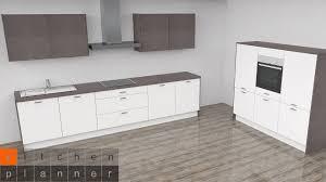 moderne zweizeilige küche aalborg weiß matt mit e geräten