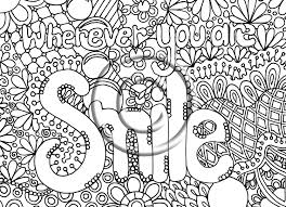 Whereever You Are Smile Hard Coloring Page