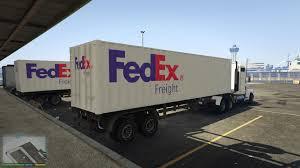 100 Fedex Freight Truck FedEx Trailer GTA5Modscom