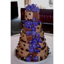 Blue and Purple wedding cakes by A Cake To Remmeber Richmond VA