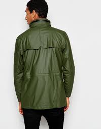 rains waterproof jacket with 4 pockets in green for men lyst