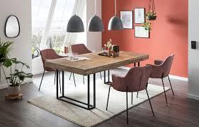 esszimmerstuhl 2er set metall und polyester rot und schwarz