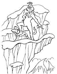 The Grinch And His Dog Max Coloring Page