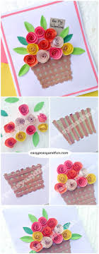 Flower Basket Paper Craft For Kids Super Simple Spring Project To Make