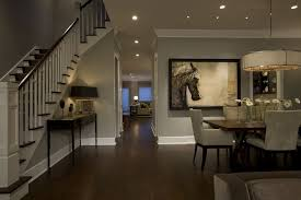 Shaker Beige For A Traditional Dining Room With Recessed Lighting And Honore Transitional