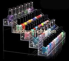 Wholesale Acrylic Plastic Counter Displays Cosmetic Stand Display Nail Polish Holder DMD 104