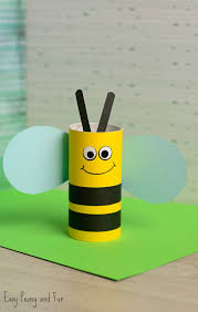 Toilet Paper Roll Bee Craft For Kids