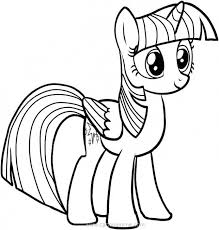 Mlp Coloring Pages Princess Twilight Printable Lovely My Little Pony Sparkle