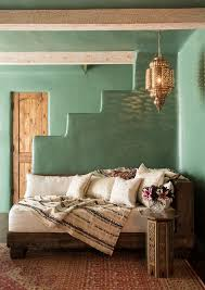 Jade Green Walls Family Room Southwestern With Style Spanish Colonial Moroccan Lantern