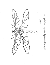 Coloring Pages For Kids By Mr Adron Printable Simple Dragonfly Page There Are More At My Blog Coloringpagesbymradronblogspot