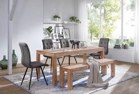 finebuy esstisch massivholz akazie esszimmer tisch holztisch design küchentisch landhaus stil braun größe wählbar