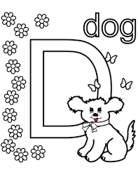 Letters and Alphabet coloring pages