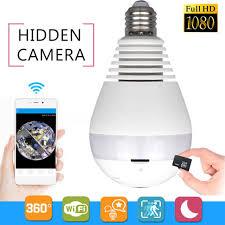 360 degree panoramic 960p hd wifi light bulb