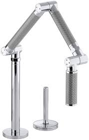 Kohler Faucet Aerator Size by Kohler K 6227 C11 Cp Karbon Articulating Deck Mount Kitchen Faucet