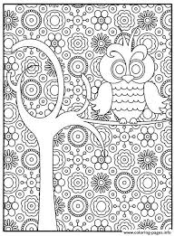 Adult Owl Coloring Pages