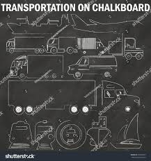 Truck Icons Hand Drawing By Chalk Stock Vector (Royalty Free ...