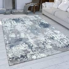 wohnzimmer teppich used look grau blau weiß