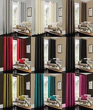 Faux Silk Eyelet Curtains by Faux Silk Curtains U0026 Blinds Ebay