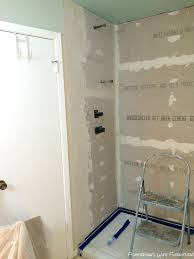 Glass Tile Over Redguard by Diy Master Bathroom Shower Prep