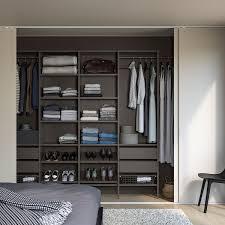 aurdal wardrobe combination gray 118 7 8 132 7 8x15 3 4x87 302 338x40x221 cm