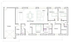 plan maison 90m2 plain pied 3 chambres plan maison plain pied 3 chambres gratuit plan de maison rectangle