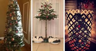 Saran Wrap Christmas Tree With Ornaments by 16 Brilliant Ways Pet Owners Are Protecting Their Christmas Trees