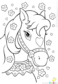 Horses Coloring Pages Horse To Print Free Of A