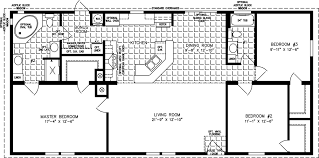 Fleetwood Triple Wide Mobile Home Floor Plans by Large Manufactured Homes Large Home Floor Plans