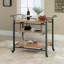 Better Homes And Gardens Rustic Country Bar Cart Pine Finish