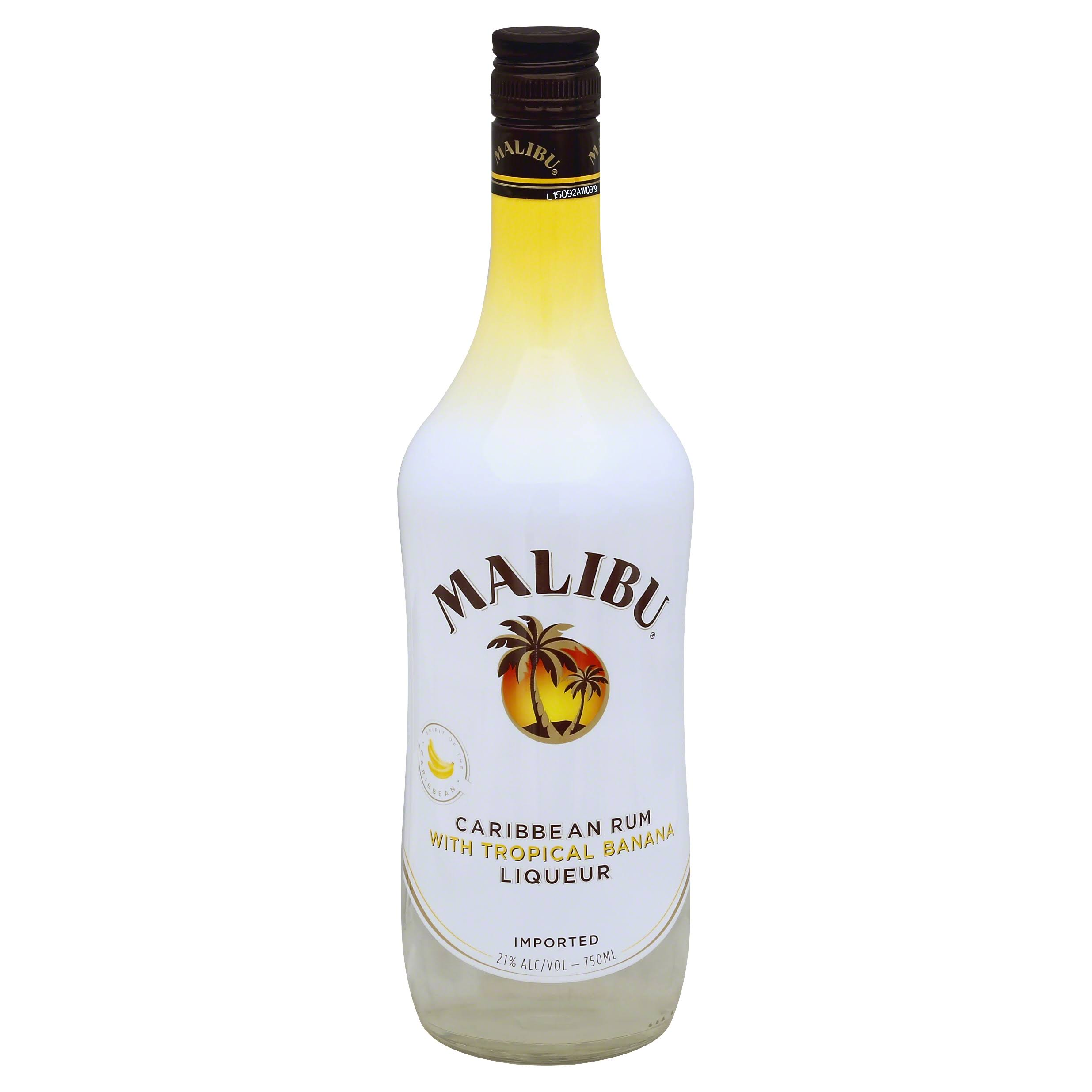 Malibu Caribbean Rum - Tropical Banana, 750ml
