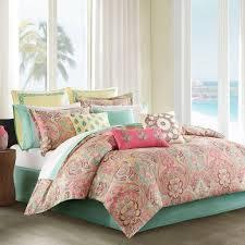 Pink Pastel Hawaiian Tropical Bedding Set Bed in a Bag