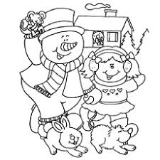 Snowman Having Fun Coloring Pages
