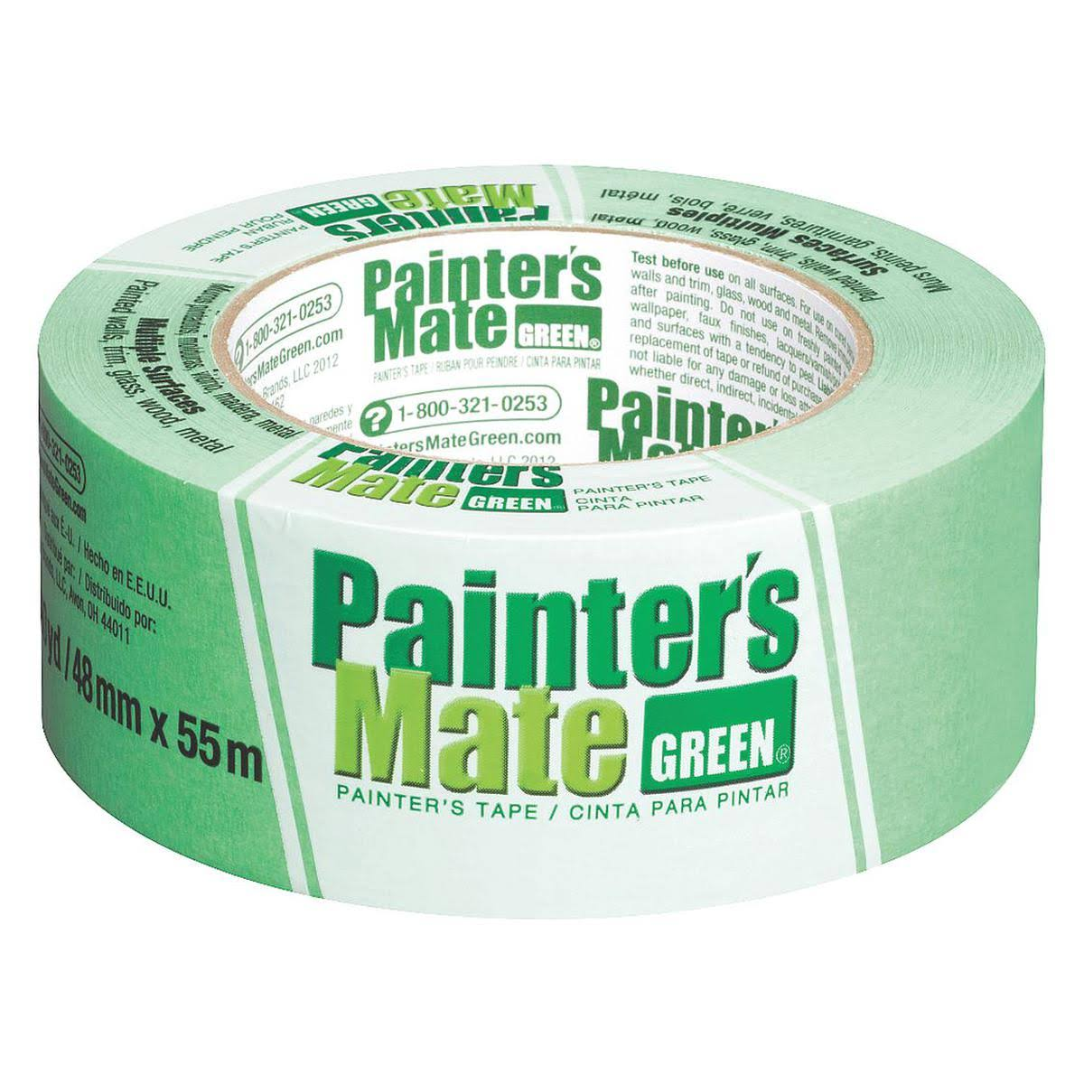 "Shurtech Brands Painter's Mate Painting Tape - 1.88"" x 60yds, Green"