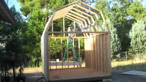 Gambrel Shed Plans 16x20 by Building A Gambrel Roof Barn Shed From Scratch On Vimeo
