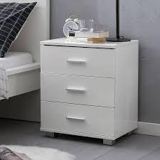 schlafzimmer kommode mit schubladen weiß hochglanz modernes design