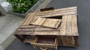 Tables En Caisses Pommes Apple Crates Into Coffee Table 1001