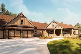 100 Garage House Craftsman Plan With 3 Car Angled 36075DK