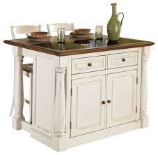 monarch antiqued white kitchen island and 2 stools traditional