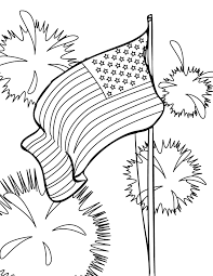 Fourth Of July Usa Coloring Pages For Preschool Kindergarten And Elementary School Children