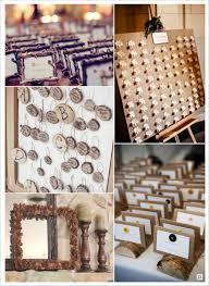 plan de table mariage automne rondin tronc cadre pomme de pin bois