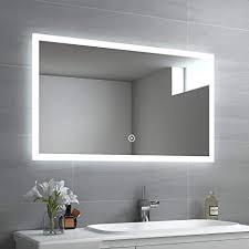 emke led badspiegel 100x60cm badspiegel mit 3 lichtfarbe 3000 6400k lichtspiegel badezimmerspiegel mit touchschalter ip44 energiesparend