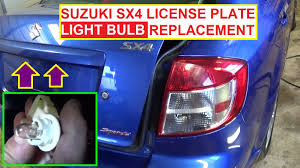 tag light license plate light bulb replacement on suzuki sx4 fiat