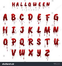Halloween Bloody Alphabet Isolated On White Stockvector Rechtenvrij